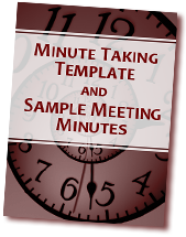 Minute Taking Template & Sample Meeting Minutes